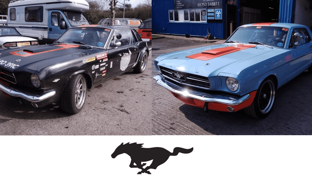 Ford Mustang Restoration -Before and After Shots - AM Restorations