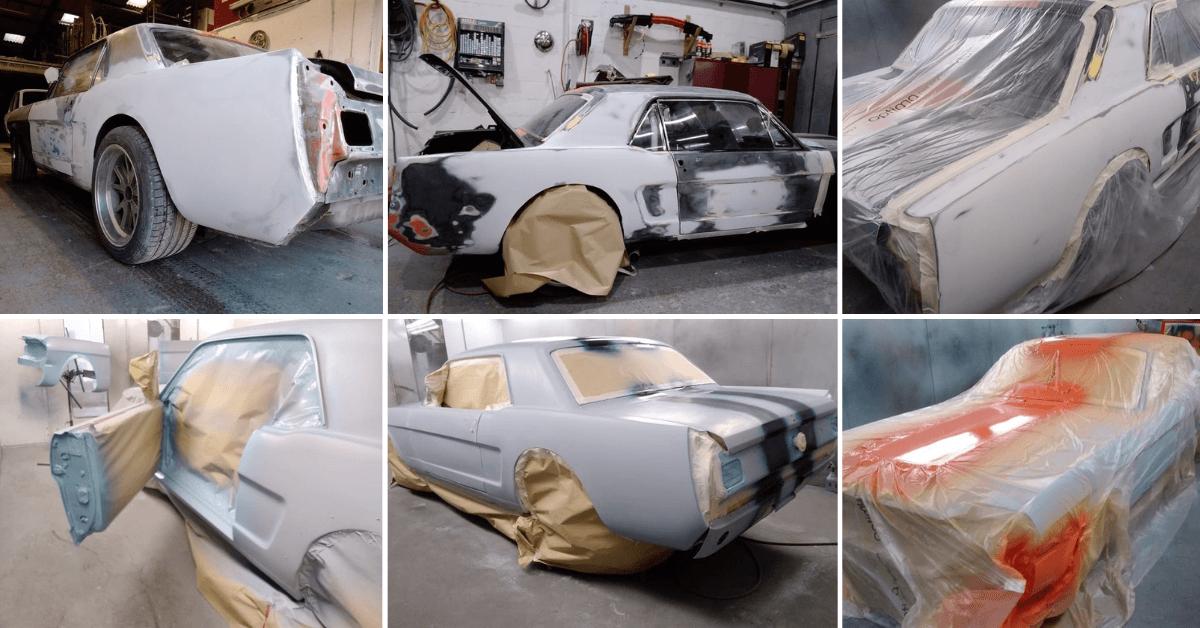 Ford Mustang Restoration - Mustang Paint Spraying - AM Restorations