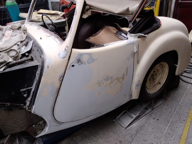 1947 Triumph Roadster Restoration and Respray - Extensive Work to teh Body - AM Restorations
