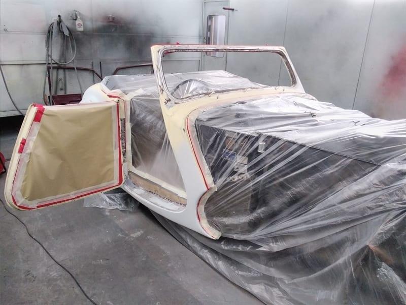 1947 Triumph Roadster Restoration and Respray - Respray Preparation - AM Restorations